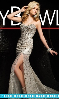 Black Prom Dresses - Beaded Strapless Sweetheart Gown at www.promdressbycolor.com