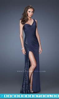 Black Prom Dresses - Long One Shoulder Sweetheart Gown at www.promdressbycolor.com