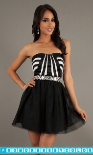 Black Prom Dresses - Short Strapless Sweetheart Homecoming Dress at www.promdressbycolor.com