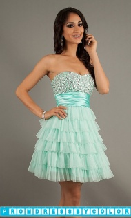 Red Prom Dresses - Bee Darlin Short Strapless Beaded Dress at www.promdressbycolor.com