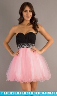 Red Prom Dresses - Short Strapless Sweetheart A-Line Tulle Dress at www.promdressbycolor.com