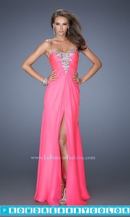 Red Prom Dresses - Long Strapless Chiffon Formal Gown at www.promdressbycolor.com