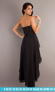 $174 Black Prom Dresses - Strapless High Low Dress at www.promdressbycolor.com