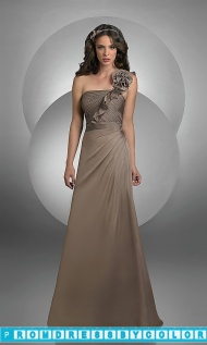 $101 Black Prom Dresses - One Shoulder Chiffon Bridesmaid Dress by Bari Jay at www.promdressbycolor.com