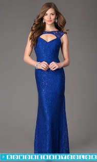 $199 Black Prom Dresses - Black Long Sleeveless Lace Gown at www.promdressbycolor.com